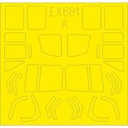 EDUEX681 UH-1N Tフェース 両面塗装マスクシール キティーホーク用 [1/48スケール マスクシール]