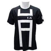 X513-821 40 僕のヒーローアカデミア Tシャツ 雄英高校 1-A(体操着柄) ブラック Mサイズ [キャラクターグッズ]