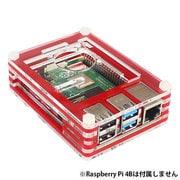 RPI4-ACCASRD [Raspberry Pi 4用 アクリルエンクロージャーセット (ケース+ファン+ファンガード) 赤]