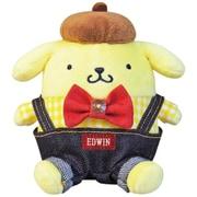 サンリオキャラクターズ×EDWIN ぬいぐるみ SSサイズ ポムポムプリン [キャラクターグッズ]