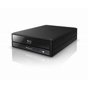 BDR-X12J-UHD [外付BD/DVD/CDライター Windows/Mac両対応 5インチハーフハイトサイズ据置型 USB3.1 Gen1接続 トレー式 高剛性ブラック筐体4Kコンテンツ Ultra HD Blu-ray(UHDBD)再生対応]