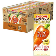 カゴメ にんじんジュースプレミアム 195ml×24本 [野菜果汁飲料]