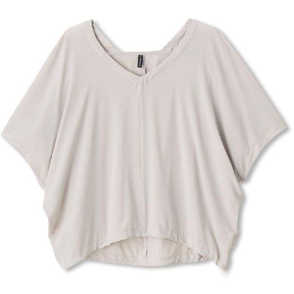 ヨギークロスカバーアップトップ YOGI CLOTH COVERUP TOP DC30114 (HI)ホワイトベージュ Mサイズ [ヨガウェア]