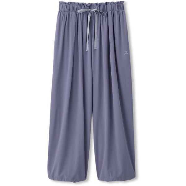 ヨギークロスワイドパンツ YOGI CLOTH WIDE PANTS DC40100 (TW)トワイライトグレー Lサイズ [フィットネス レディース]