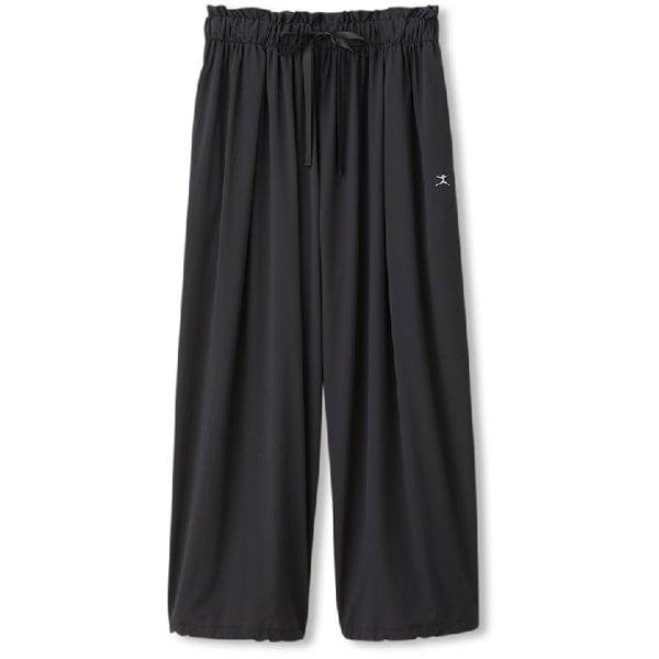 ヨギークロスワイドパンツ YOGI CLOTH WIDE PANTS DC40100 (WK)ウォッシュブラック Sサイズ [フィットネス レディース]
