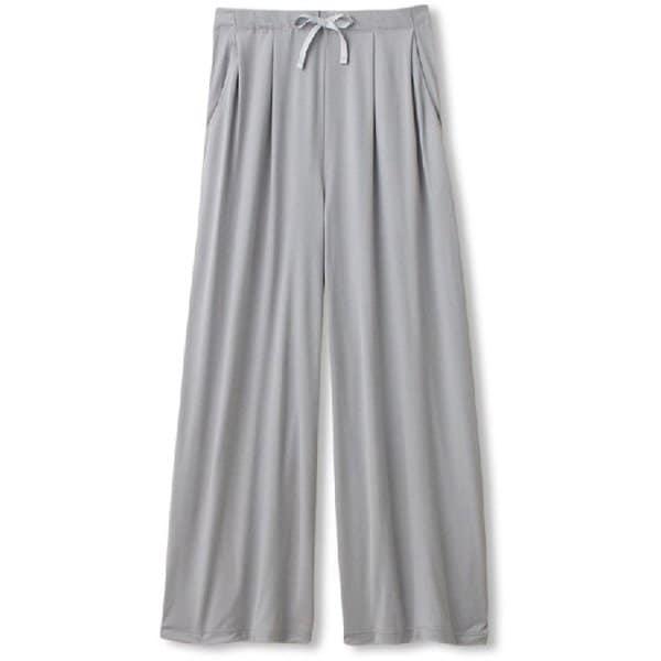 ハイライズワイドパンツ HI-RISE WIDE PANTS DC60105 ミストグレー(MY) Lサイズ [フィットネス パンツ レディース]