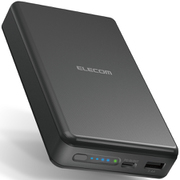 DE-C19L-20000BK [モバイルバッテリー/リチウムイオン電池/PD認証/45W/Type-C入出力対応/20000mAh/大容量/USB-A出力1ポート/Type-C1ポート/PSE適合/低電流モード搭載/合計出力50W/ブラック]
