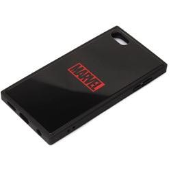 PG-IT7DGT03MVL [iPod Touch(第5/6/7世代)用 ガラスハイブリッドケース ロゴ/ブラック]