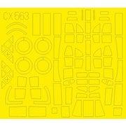 EDUCX563 ウェリントン GR Mk.VIII 塗装マスクシール エアフィックス用 [1/72スケール 樹脂製塗装用マスキングシール]