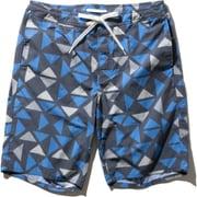 ジオプリントウォーターショーツ Geo Print Water Shorts HE72022 (HB)ヘリーブルー XLサイズ [トランクスタイプ水着 メンズ]