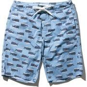 ホエールプリントウォーターショーツ Whale Print Water Shorts HE72023 (PB)ペールブルー Lサイズ [水着 メンズ]
