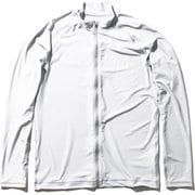 ロングスリーブフルジップラッシュガード L/S Full-zip Rashguard HE82025 (W)ホワイト Mサイズ [ラッシュガード メンズ]