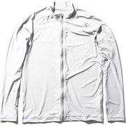 ロングスリーブフルジップラッシュガード L/S Full-zip Rashguard HE82025 (W)ホワイト Lサイズ [ラッシュガード メンズ]