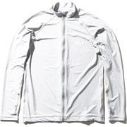 ロングスリーブフルジップラッシュガード L/S Full-zip Rashguard HE82025 (W)ホワイト WMサイズ [ラッシュガード レディース]