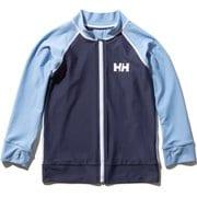 ロングスリーブHHフルジップラッシュガードポ L/S HH Full-Zip Rashguard HJ82001 (PB)ペールブルー 130サイズ [ラッシュガード ボーイズ]