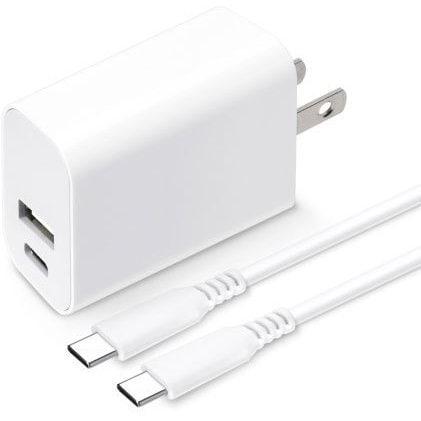 PG-PDA18AD4W [USB PD 電源アダプタ USB-C & USB-Aポート USB-C & USB-Cケーブル付き ホワイト]