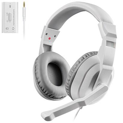 HS-GM30MWH [ゲーム向けヘッドセット 4極 両耳オーバーヘッド USBデジタルミキサー付 PS4 Switch対応 ホワイト]