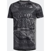 オウン ザ ラン グラフィックTシャツ Own the Run Graphic Tee FYR43 グレーフォー/ブラック J/Mサイズ [ランニングシャツ メンズ]