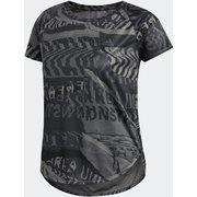 オウン ザ ラン シティクラッシュTシャツ Own The Run City Clash Tee GOE55 グレーフォー/ブラック J/Sサイズ [ランニングシャツ レディース]