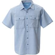 キャニオンソリッドショートスリーブシャツ OE7044 451 Deep Lake XLサイズ [アウトドア シャツ メンズ]