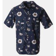 クライムアロハショートスリーブシャツ OE9172 425 Hardwear Navy Sサイズ [アウトドア シャツ メンズ]