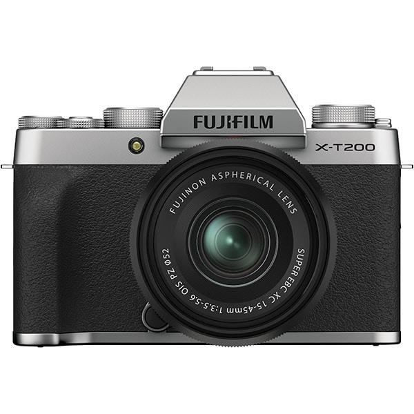 FUJIFILM X-T200 レンズキット シルバー [ボディ+交換レンズ「フジノンレンズ XC15-45mmF3.5-5.6 OIS PZ」]