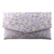 1643-1 [房カバー付き 金襴 桜 日本製 数珠袋 パープル]
