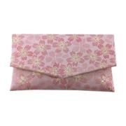 1643-2 [房カバー付き 金襴 桜 日本製 数珠袋 ピンク]