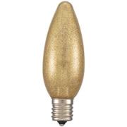 LDC1L-G-E17 13G [LED電球 シャンデリア電球形 E17/1.2W 電球色 金ラメ]