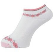 プロドライ スポーツ ウィメンズ ゴルフソックス ホワイト/ピンク フリーサイズ(22~24cm) 女性用 2020年モデル