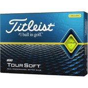 ゴルフボール TOUR SOFT(ツアーソフト) イエロー 2020年モデル [1ダース 12球入]