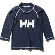 ロングスリーブHHクルーラッシュガード K L/S HH Crew Rashguard HJ82002 (HB)ヘリーブルー 150サイズ [ラッシュガード ボーイズ]