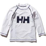 ロングスリーブHHクルーラッシュガード K L/S HH Crew Rashguard HJ82002 (W)ホワイト 140サイズ [ラッシュガード ボーイズ]