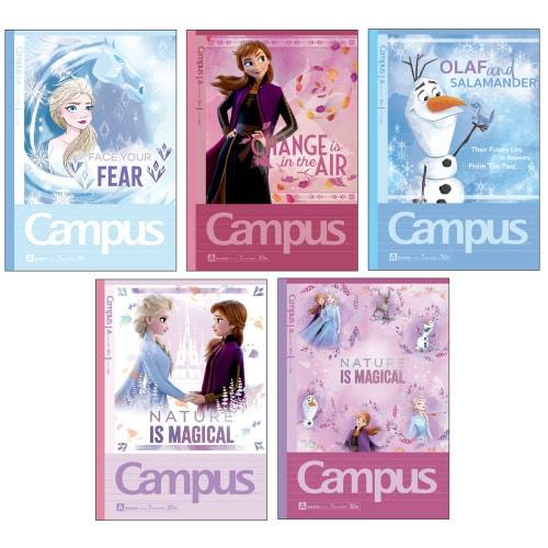 S2636069 アナと雪の女王2 キャンパスノート ドットA罫 5冊パック [キャラクターグッズ]
