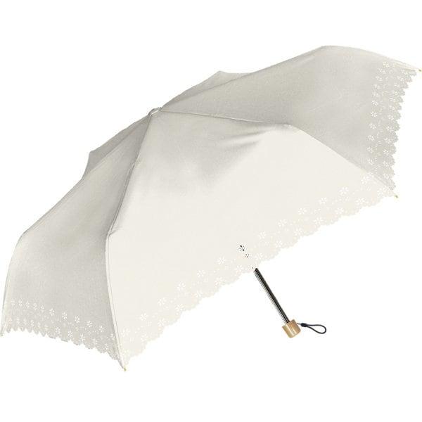 920-018 [Parasol 晴雨兼用折傘 55cm エレガントヒートカット オフ白]