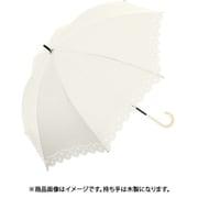 910-019 [Parasol 晴雨兼用長傘 50cm フラワーヒートカット オフ白]