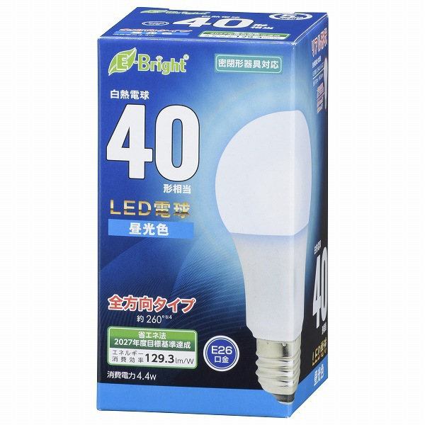 LDA4D-G AG27 [LED電球 E26 40形相当 全方向 昼光色 密閉器具対応]