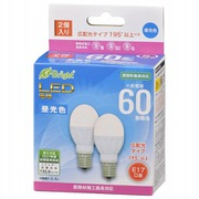 LDA6D-G-E17IH222P [LED電球E17 60形相当 広配光 昼光色 断熱材施工器具・密閉型器具対応2P]
