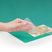 DM-006EW [ななめカット デスクマット(再生塩ビ) OAタイプエコノミー マウス対応 薄手1.2mm厚 Wタイプ(下敷付) 6号]
