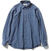 Cシールドプレザントシャツ C-SHIELD Pleasant Shirt 5212072 (040)ブルー Sサイズ [アウトドア シャツ メンズ]