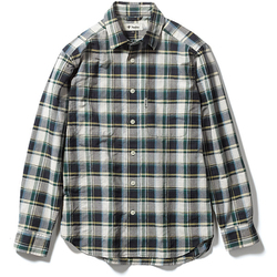 Cシールドプレザントシャツ C-SHIELD Pleasant Shirt 5212072 (060)グリーン Lサイズ [アウトドア シャツ メンズ]