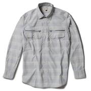 Cシールドシャドーチェックシャツ C-SHIELD Shadow Check Shirt 5212073 (021)ライトグレー Mサイズ [アウトドア シャツ メンズ]