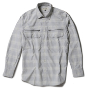 Cシールドシャドーチェックシャツ C-SHIELD Shadow Check Shirt 5212073 (021)ライトグレー Lサイズ [アウトドア シャツ メンズ]