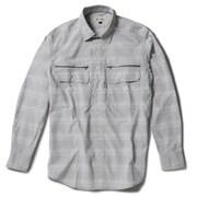 Cシールドシャドーチェックシャツ C-SHIELD Shadow Check Shirt 5212073 (021)ライトグレー XLサイズ [アウトドア シャツ メンズ]
