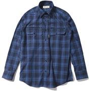 Cシールドシャドーチェックシャツ C-SHIELD Shadow Check Shirt 5212073 (040)ブルー XLサイズ [アウトドア シャツ メンズ]