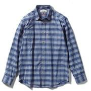 SCボーダーチェックシャツ SC Border Check Shirt 5212075 (040)ブルー XLサイズ [アウトドア シャツ メンズ]