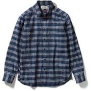 SCボーダーチェックシャツ SC Border Check Shirt 5212075 (046)ネイビー Mサイズ [アウトドア シャツ メンズ]