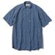 CシールドプレザントS S/S C-SHIELD Pleasant Shirt S/S 5212080 (040)ブルー Mサイズ [アウトドア シャツ メンズ]