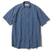 CシールドプレザントS S/S C-SHIELD Pleasant Shirt S/S 5212080 (040)ブルー Lサイズ [アウトドア シャツ メンズ]