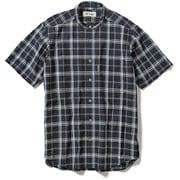 CシールドプレザントS S/S C-SHIELD Pleasant Shirt S/S 5212080 (046)ネイビー Lサイズ [アウトドア シャツ メンズ]